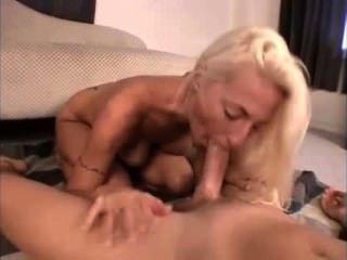 Horny Blonde Fucking On The Floor
