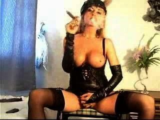 Hot Blonde Big Cigar And Big Black Dildo Action