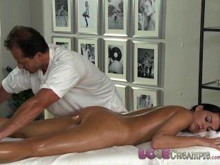 Love Creampie Young Beauty Gets Oil Massage And Cum In Her Tight Young Hole