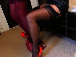 Blackhair Lesbians In Nylons Teasing