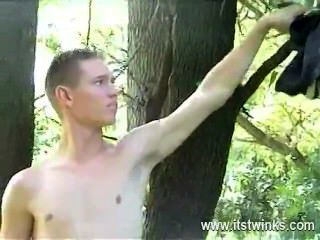 Hot Gay Sex The Adorable Blondie Leisurely Unwraps Off His Clothes As He