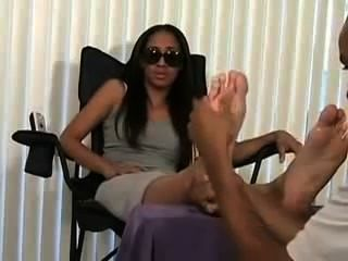 Sweaty Stinkky Ebony Feet Out Of Socks