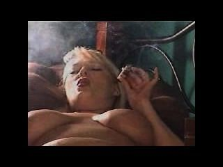 Busty Cigar Smoking Solo Masturbation