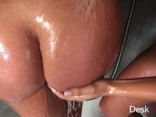 Cindy Dollar And Kari In The Shower