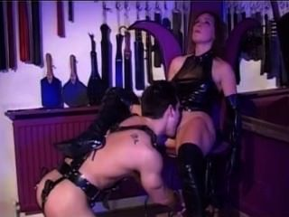 Dominatrix Gushes And Gets Dominated By Slave