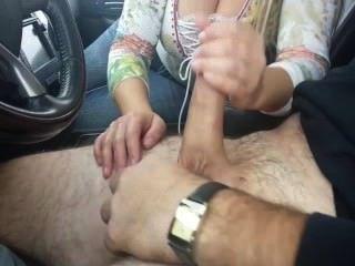 Female Stranger Gives Him Handjob