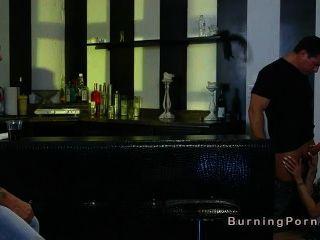 Tattooed Teen Fucked In Gangbang