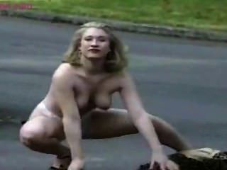 Mature And Blonde Woman Gets Nude In Public