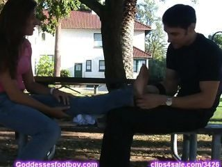 Latina Gets Feet Massage - Part Ii