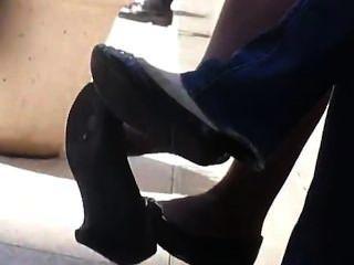 Black Nylon Candid Dangling