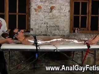 Sexy Gay Sebastian Had The Fellows Restrain Luke On The Table After