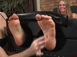Tickling Oiled Feet