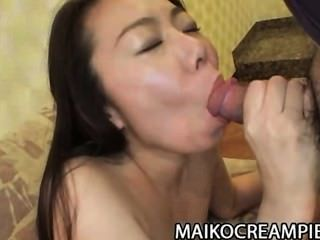 Taeko Syoji: Mature Japanese Pussy Filled With Cum