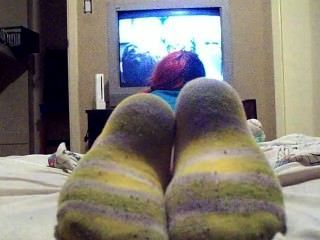 Watching Tv In Dirty Socks