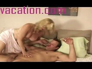 Bitchy Mature Blonde Gets Her Mouth Filled With Cum