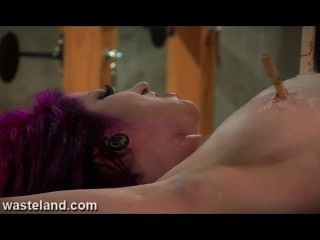 Redhead Submissive Chainded To A Rack And Sexually Tormented By Femdom
