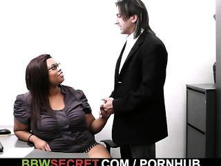 Married Boss Screws Ebony Secretary And Gets Busted