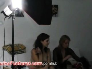 Three Hot Chicks And Backstage Photoshoot