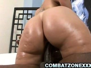 Sara Jay - Busty Blonde Milf Humping On Thick Black Dong