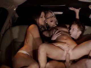 Hot Group Sex In Limo