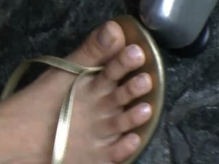 Candid Feet Outside Close Up