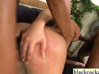 Interracial Anal Gangbang Teen Slut