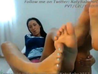 Two Amateur Lesbian Feet Worship