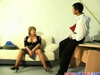 Mature Cougar With Big Tits Plays With A Dildo