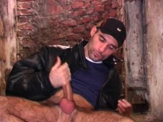 """Middle Eastern Guys Sucks His Own 12"""" Cock"""