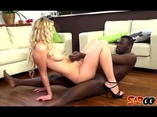 Blonde Gets Black Cock