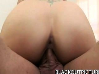 Rebecca Riley - Skinny Teen Drilled By A Thick Black Daddy Cock