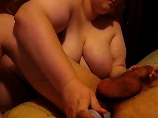 Dirty Milf Wife Give Blowjob Prostate Milking With A Mouth Full Of Cum