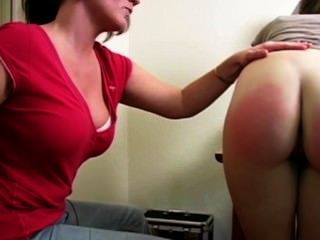 Spanking Her Roommates Ass Red