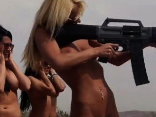 Naked Babes With Guns