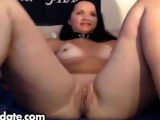 Hot Brunnette Uses Huge Dildo