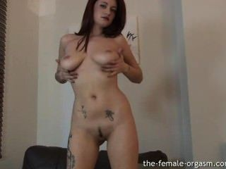 Horny Babe With Big Natural Breasts Masturbates To Orgasm