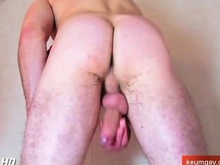 Straight Guy In A Shower Getting To Wank His Huge Cock Filmed By Us.