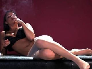 Saha Cane Smoking And Masturbating