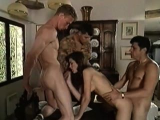 Beautiful Italian Girl Takes From Three Guys
