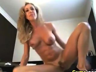 Blonde Squirt All Over Her Camera
