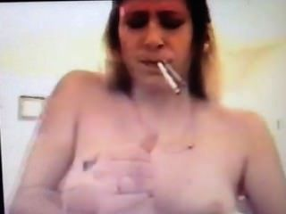 Wife Crazy Smoking Handjob