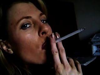 Busty Smoker