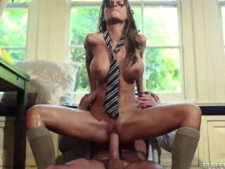 Bigtitsatschool - Touching The Tutor - Black Angelika