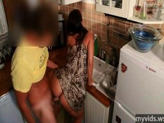 Kitchen Sex With Sexy Mother At Myvids.ws
