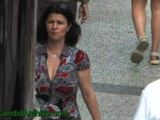 Hot Mature Woman With Huge Tits Walking