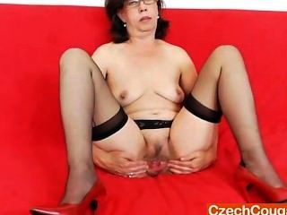 Tease And Cougar Solo With A Gorgeous Mature