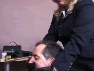 Blondie Glove Smothering Sucking 2