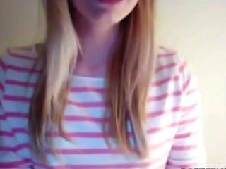 Blonde Teen On Webcam Strips