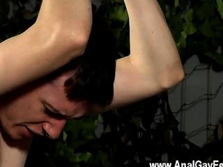 Gay Orgy Aiden Smashes His Face, Tugging Out Jism Over The Guys Torso