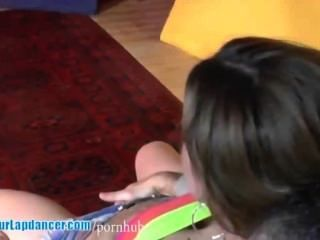 Spontaneous Czech Girl Does Hot Lapdance